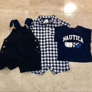 Nautica 18 Months Overalls Outfit